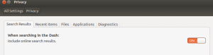Ubuntu: Onlinesuche deaktivieren