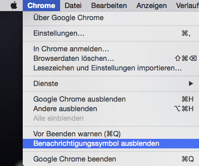 Google Chrome Glocke